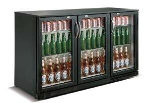 Cresco Black Triple Door Bottle Cooler SC 298 F