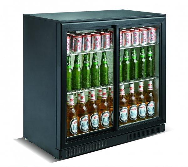 Cresco Black Double Door Bottle Cooler SC 198 YF