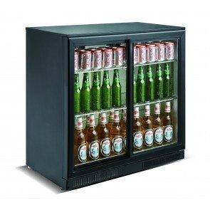 Cresco Black Double Door Bottle Cooler SC 198 F