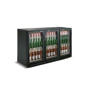 Cresco Black Triple Door Bottle Cooler SC 298 YF