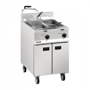 Lincat Opus 800 OE8113 Twin Tank Twin Basket Free Standing Electric Fryer with Pumped Filtration