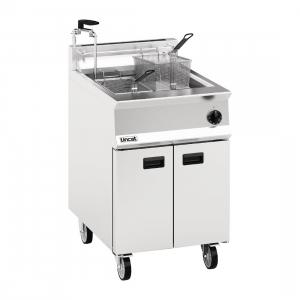 Lincat Opus 800 Single Tank Twin Basket Free Standing Gas Fryer with Pumped Filtration OG8106  OP