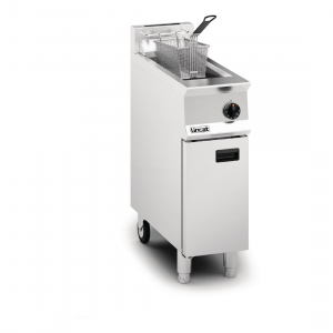 Lincat Opus 800 Single Tank Single Basket Free Standing Gas Fryer with Pumped Filtration OG8110 OP