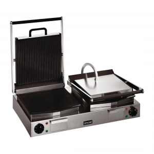 Lincat Lynx 400 Electric Twin Ribbed Contact Grill LRG2