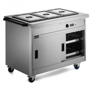 Lincat Panther Hot Cupboard with Bain Marie Top P8B3