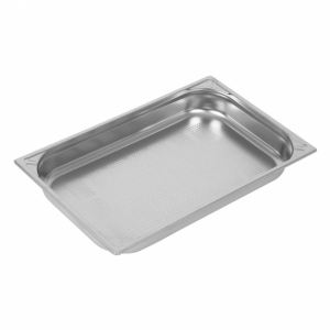 Vogue Heavy Duty Stainless Steel Perforated 1/1 Gastronorm Pan