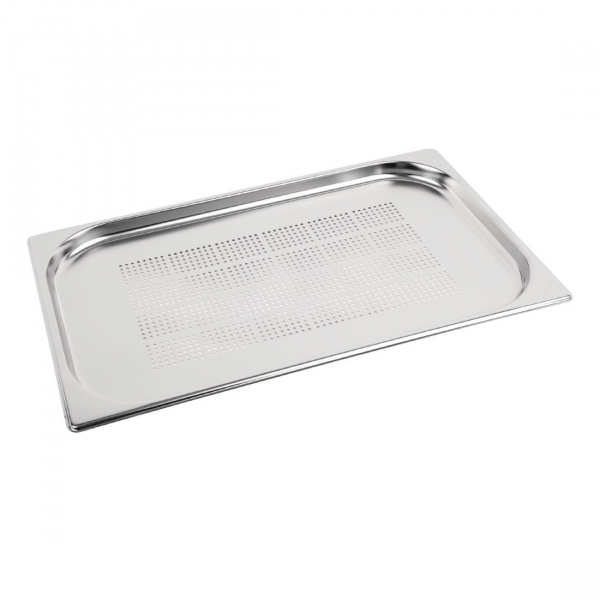 Vogue Stainless Steel Perforated 1/1 Gastronorm Pan