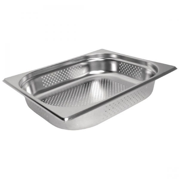 Vogue Stainless Steel Perforated 1/2 Gastronorm Pan